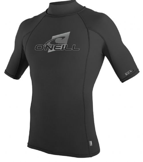 O'NEILL MENS RASH VEST.SKINS UPF50+ SUN PROTECTION BLACK GUARD T SHIRT TOP S20